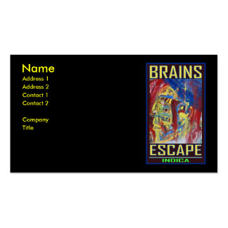 BRAINS ESCAPE INDICA PACK OF STANDARD BUSINESS CARDS