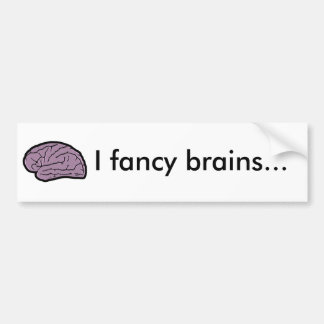 Brains for dinner bumper sticker