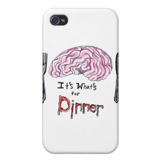 Brains for Dinner iPhone 4 Cases