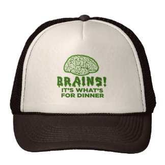Brains It s What s For Dinner Mesh Hats