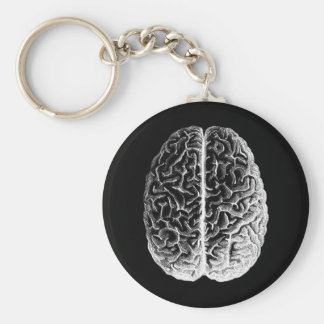 Brains! Basic Round Button Key Ring