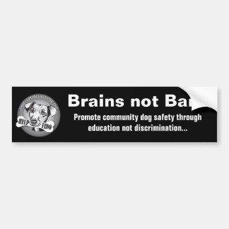 Brains not Bans (black) Bumper Sticker