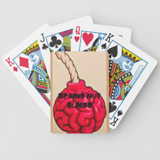 Brains Not Bombs Bicycle Playing Cards
