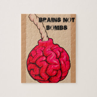 Brains Not Bombs Jigsaw Puzzle