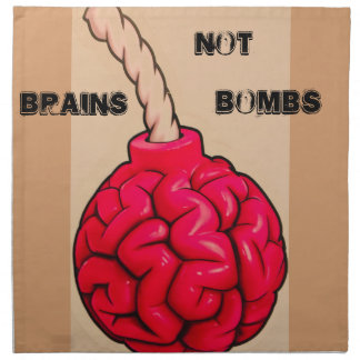 Brains Not Bombs Napkin