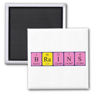 Brains periodic table name magnet