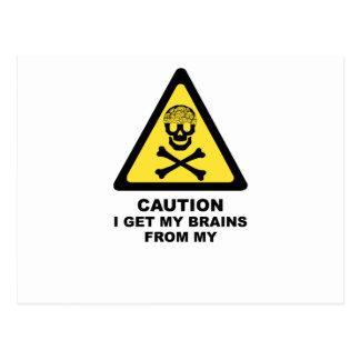 brains postcards