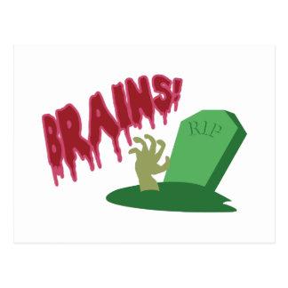 Brains! RIP Post Card