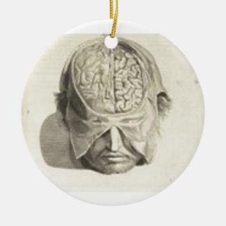 Brains Round Ceramic Decoration
