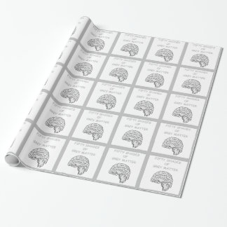 brains wrapping paper