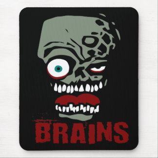 Brains zombie mouse mat
