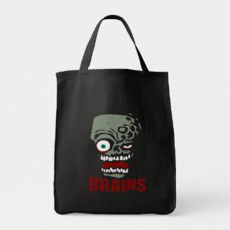 Brains zombie tote bag