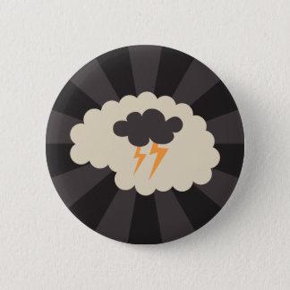 Brainstorming creativity ideas 6 cm round badge
