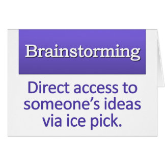 Brainstorming Definition Note Card