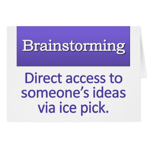 Brainstorming Definition Greeting Card