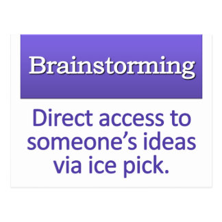 Brainstorming Definition Postcard