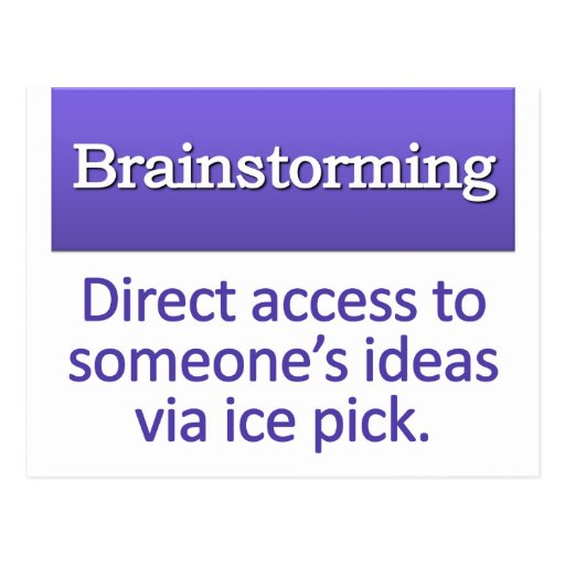 Brainstorming Definition Post Card