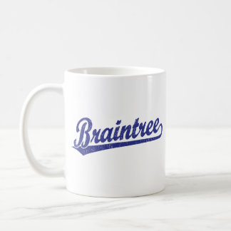 Braintree script logo in blue mug