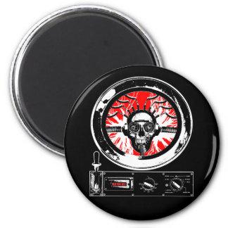 Brainwash wash wash 6 cm round magnet