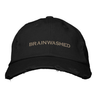 brainwashed embroidered hats