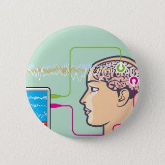 Brainwave Monitoring 6 Cm Round Badge
