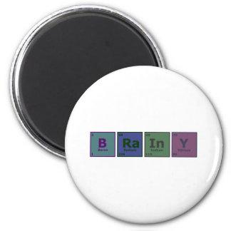 Brainy 6 Cm Round Magnet