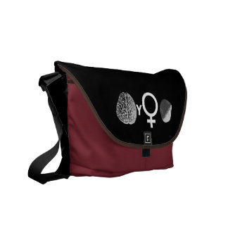 Brainy Girls Rock! Courier Bags