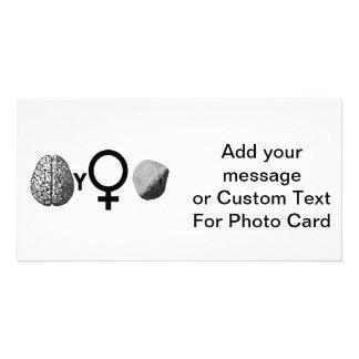 Brainy Girls Rock! Personalised Photo Card
