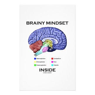 Brainy Mindset Inside (Anatomical Brain) Customized Stationery