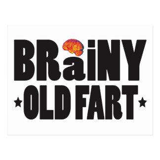 Brainy Old Fart K Postcard
