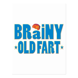Brainy Old Fart Postcard
