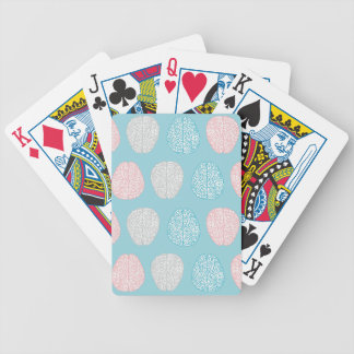 Brainy Pastel Pattern (Awesome Pastel Brains) Bicycle Playing Cards