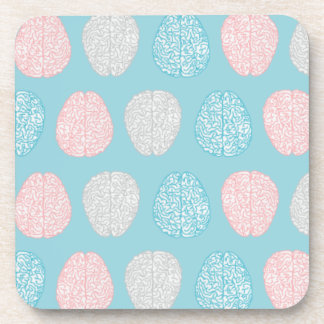 Brainy Pastel Pattern (Awesome Pastel Brains) Coaster