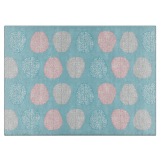 Brainy Pastel Pattern (Awesome Pastel Brains) Cutting Board