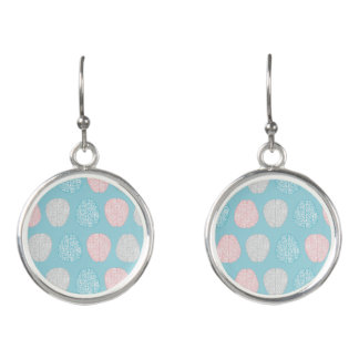 Brainy Pastel Pattern (Awesome Pastel Brains) Earrings