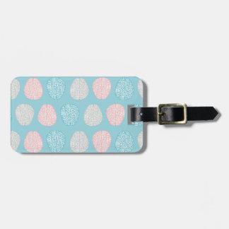 Brainy Pastel Pattern (Awesome Pastel Brains) Luggage Tag