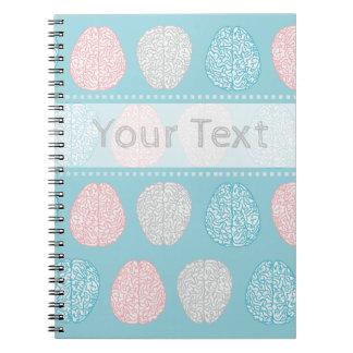 Brainy Pastel Pattern (Awesome Pastel Brains) Notebook