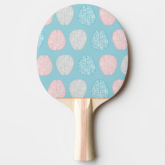Brainy Pastel Pattern (Awesome Pastel Brains) Ping Pong Paddle