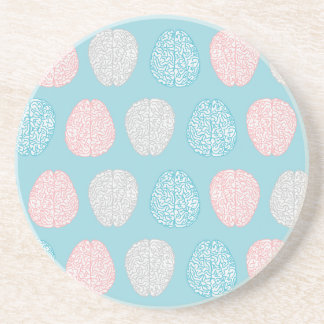 Brainy Pastel Pattern Drink Coaster