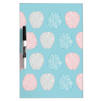 Brainy Pastel Pattern Dry Erase White Board