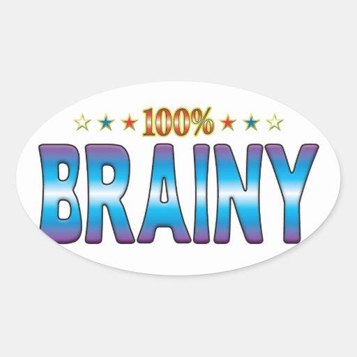 Brainy Star Tag v2 Oval Sticker