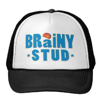 Brainy Stud Mesh Hats
