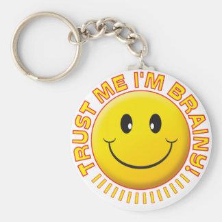 Brainy Trust Me Smile Key Ring
