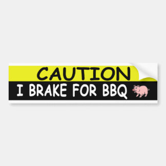 Brake For BBQ Bumper Sticker
