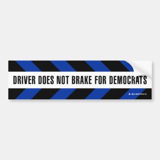 brake for Democrats Bumper Sticker