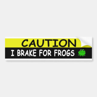 Brake For FROGS Bumper Stickers