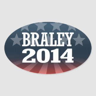 BRALEY 2014 OVAL STICKERS