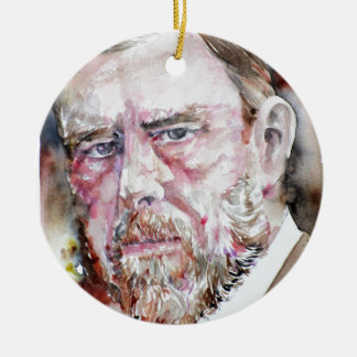 BRAM STOKER - watercolor portrait Christmas Ornament