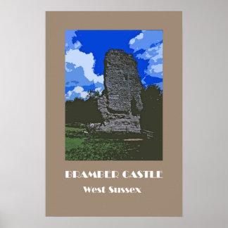 Bramber Castle 1920s' retro-style poster