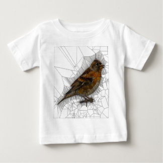 Bramble Finch Stained Glass Baby T-Shirt